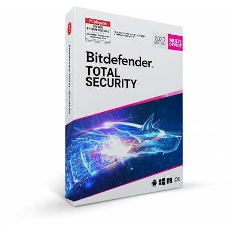 Bitdefender TOTAL Security | Multipiattaforma 5 Device| Account di licenza | 3 Anni.